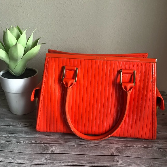 Ted Baker Handbags - Ted Baker Patent Leather Purse Handbag